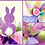 Happy Easter wreath decor for sale buy now decorations bunny Abu Dhabi Dubai Al Ain Gateway Art Sales LLC