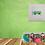 Thumbnail: Green Camper Van MOUNTED PRINT (Square)