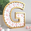 Peach and white felt balls freestanding letter G gold pom poms shelf decor gift Abu Dhabi Al Ain Dubai Gateway Art Sales LLC