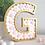 Peach and white felt balls freestanding letter G gold pom poms shelf decor gift Abu Dhabi Al Ain Dubai Gateway Art Sales LLC