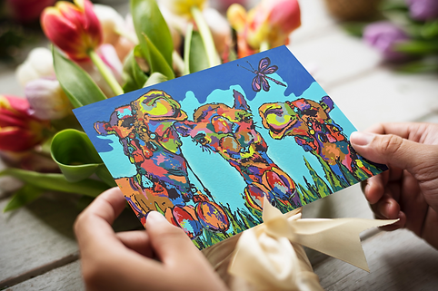 The Camels greeting card with envelope A