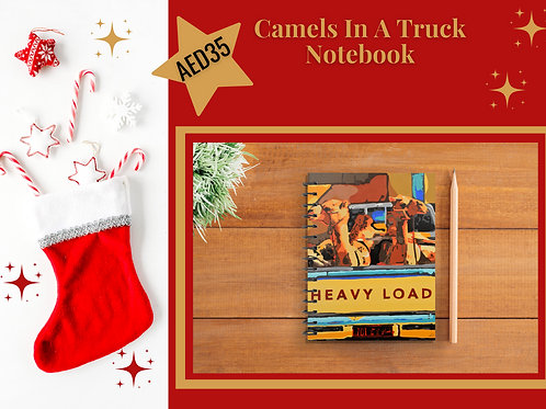 Camels In A Truck notebook stocking filler Christmas 2020 present gift stationery Gateway Art Sales Abu Dhabi Dubai UAE