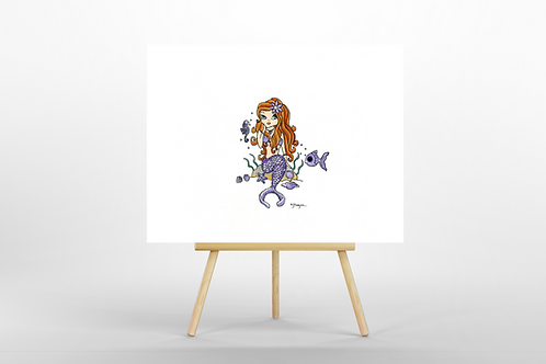 Lavender Mermaid ORIGINAL PAINTING