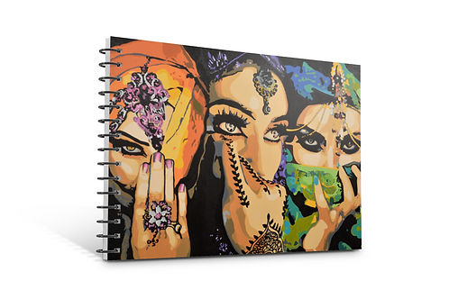 Arabic Ladies notebook A5 size spiral bound 50 blank inner pages stationery paper gifts Gateway Art Sales Abu Dhabi Dubai UAE