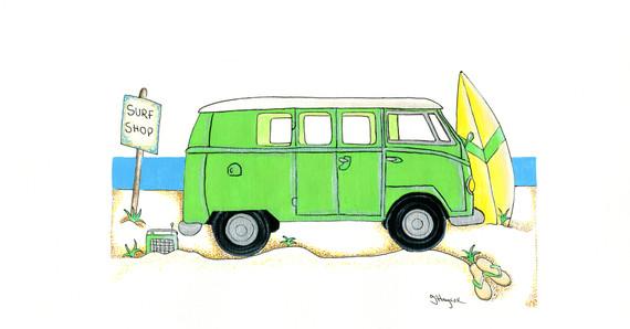 Camper Van in Green