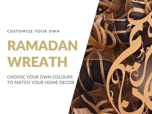 customize your own Ramadan Wreath in Abu Dhabi Dubai Al Ain Gateway Art Sales Ramadan decor Ramadan Kareem Ramadan Mubarak