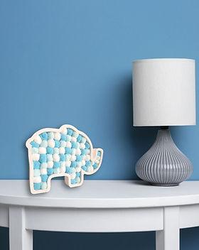 Elephant freestanding pom pom filled ele