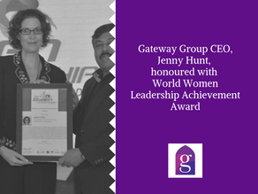 Gateway Group CEO, Jenny Hunt, honoured with World Women Leadership Achievement Award