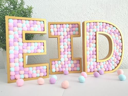 Freestanding Pom Pom Letters Set - EID