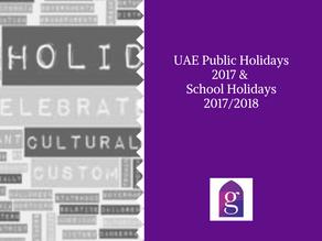 UAE Public Holidays 2017 & School Holidays 2017/2018