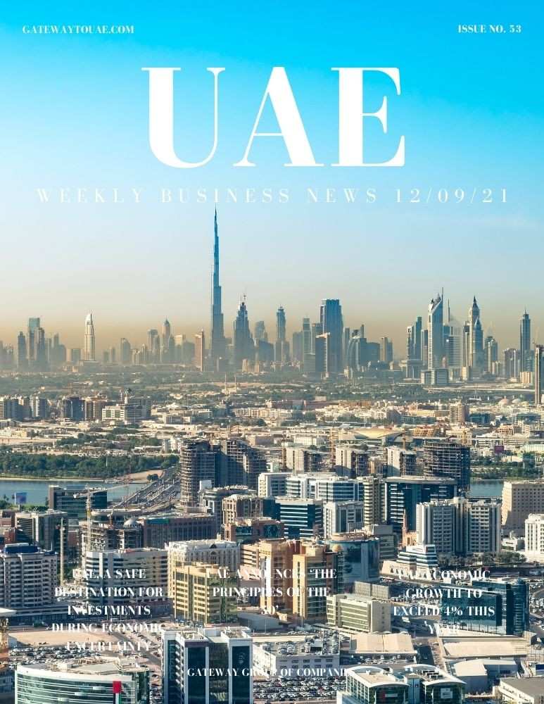 UAE weekly business news headlines 9th September 2021 Issue 53 Gateway Group Of Companies Abu Dhabi Dubai weekly magazine company formation business setup local sponsor service agent visas company formation authority trade licence license