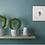 turquoise mermaid giclee print square art print home decor plants gift idea Gateway Art Sales Abu Dhabi Dubai UAE
