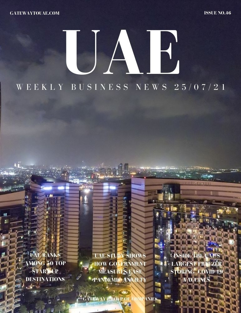 UAE weekly business news headlines 25th July 2021 Issue 46 Gateway Group Of Companies Abu Dhabi Dubai weekly magazine company formation business setup local sponsor service agent visas company formation authority trade licence license