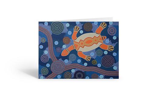 The Turtle greeting card birthday Gateway Art Sales Abu Dhabi Dubai UAE pointillism dotillism