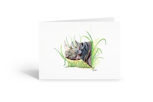 Rhino greeting card birthday card thank you card Gateway Art Sales Abu Dhabi Dubai UAE