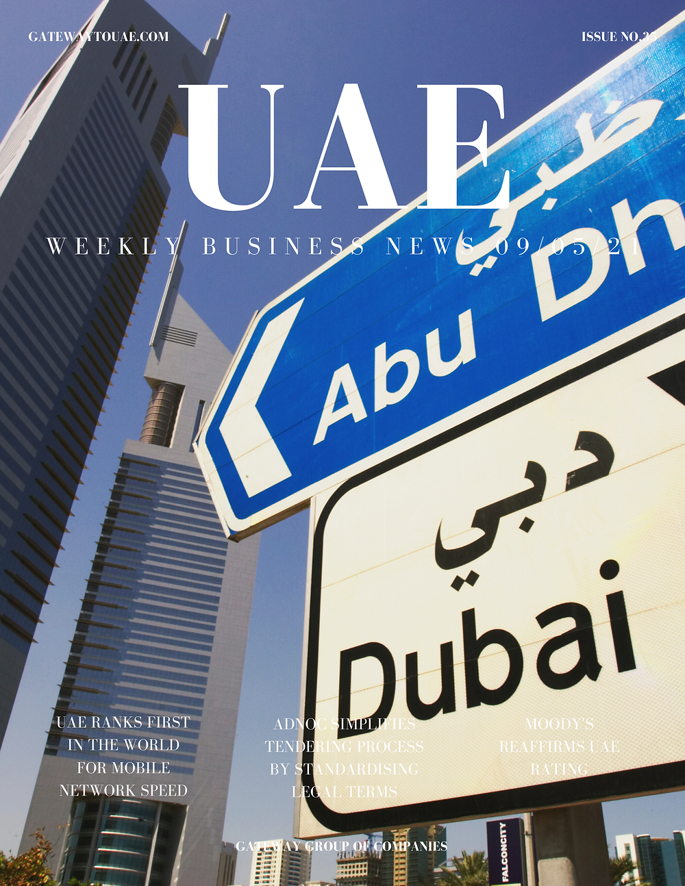 UAE weekly business news headlines 9th May 2021 Issue 35 Gateway Group Of Companies Abu Dhabi Dubai weekly magazine company formation business setup local sponsor service agent visas company formation authority trade licence license