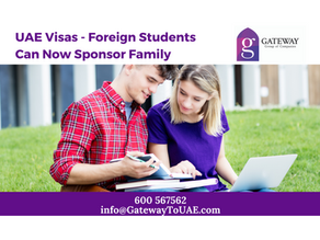 UAE Visas - Foreign Students Can Now Sponsor Family