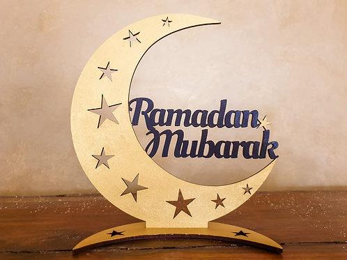Ramadan Mubarak Moon Tabletop Decor