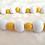 Summer wood bead garland jute tassel star yellow white decor  beads garlands Abu Dhabi Dubai Al Ain UAE Gateway Art Sales LLC