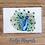 Peacock fridge magnet acrylic fridge magnet bird wildlife green blue turquoise gift Gateway Art Sales Abu Dhabi Dubai UAE