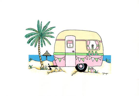 Retro Caravan in Pink