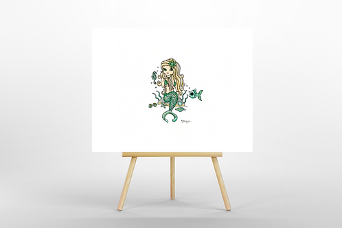 Green Mermaid ORIGINAL PAINTING