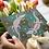 Crocodile Creek greeting card insitu hand tulips birthday Gateway Art Sales Abu Dhabi Dubai UAE pointillism dotillism