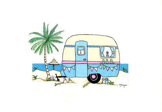 Retro Caravan in Blue