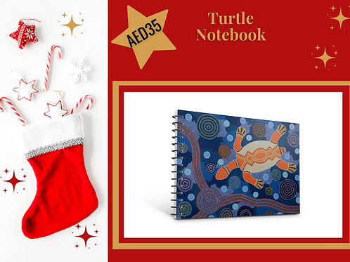 Turtle notebook stocking filler Christmas 2020 present gift stationery Gateway Art Sales Abu Dhabi Dubai UAE