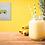 Thumbnail: Yellow Camper Van MOUNTED PRINT (Square)