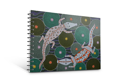 Crocodile Creek notebook A5 size spiral bound 50 blank inner pages stationery paper Gateway Art Sales Abu Dhabi Dubai UAE