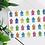 mini beach huts greeting card insitu leaves birthday card thank you card Gateway Art Sales Abu Dhabi Dubai UAE