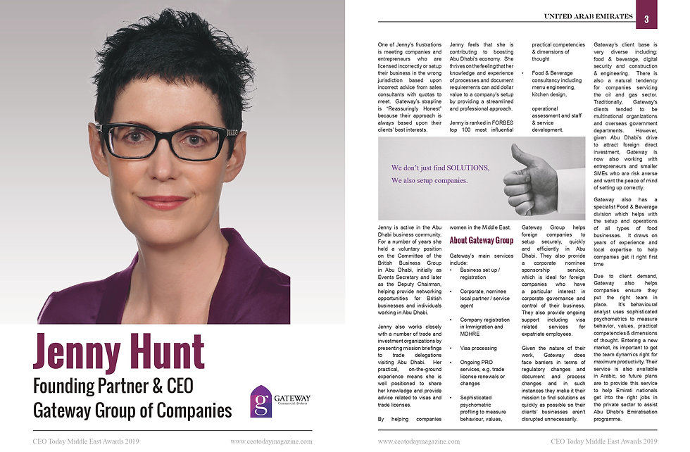 Jenny Hunt interview CEO Today Magazine_