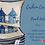 blue beach huts bundle cushion covers 40x40 standard size made UK cotton piping houses Gateway Art Sales Abu Dhabi Dubai UAE
