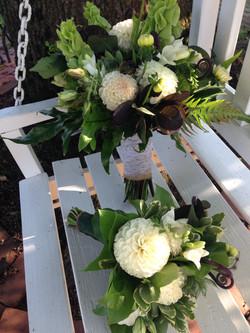 bride and bridesmaid's bouquet