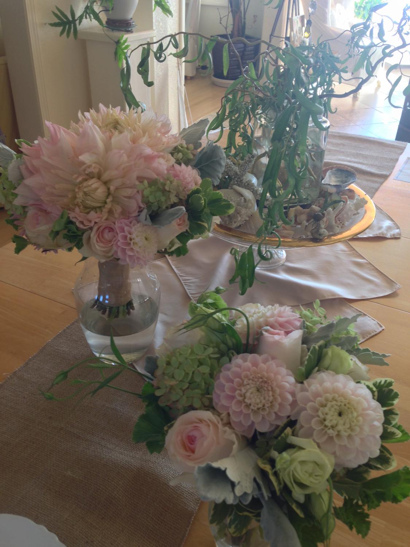 seasonal bride's bouquet