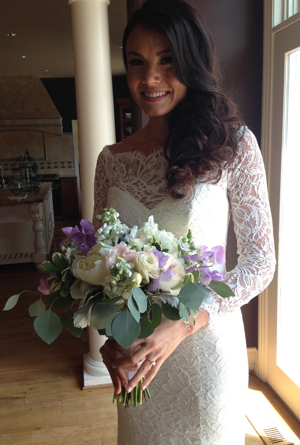 pastel bride's bouquet by floralaura