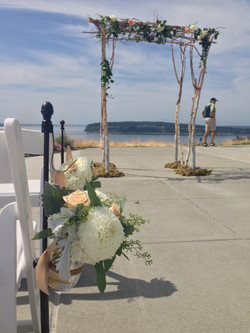 wedding arbor and aisle