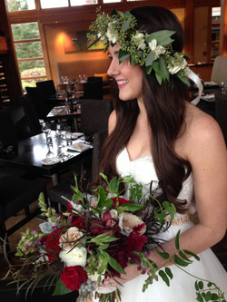 winter bride's bouquet