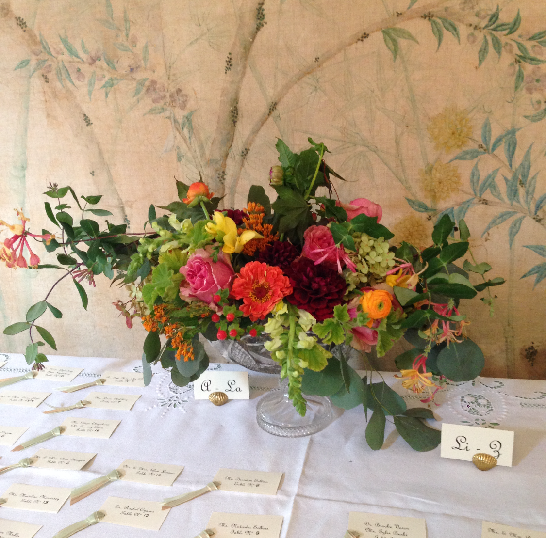 wedding entry arrangement