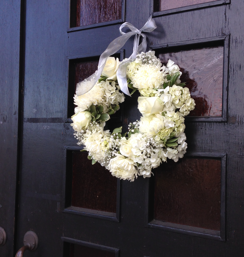 church entry wreath