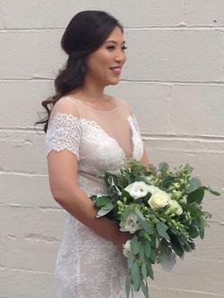 verdant bride's bouquet