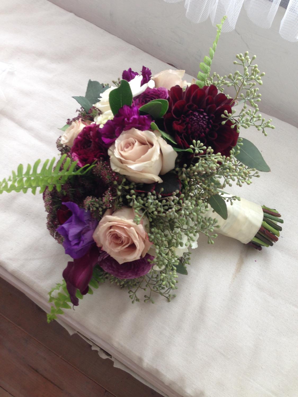 rich-toned bride's bouquet