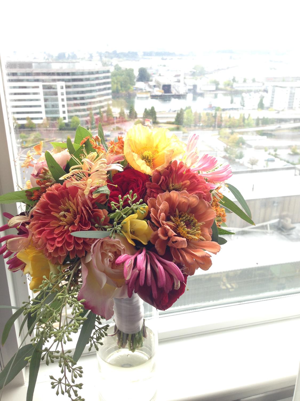 dainty bride's bouquet