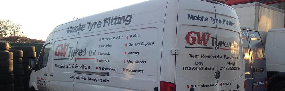 new part worn budget cheap mobile tyre fitting ipswich suffolk 24/7/365 emergency