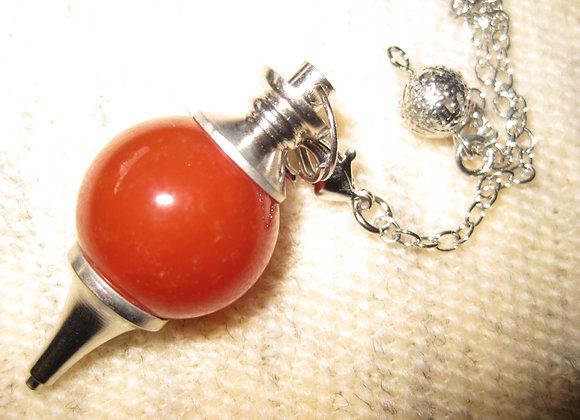 Pendulum i rød aventurin