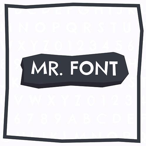 MR. Font