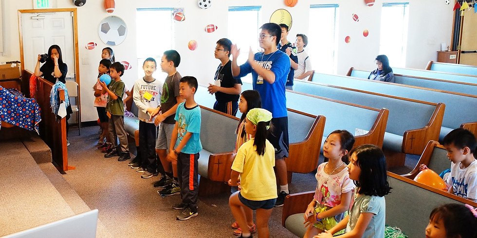 兒童主日學 KIDS SUNDAY SCHOOL ( Pre-K to K )