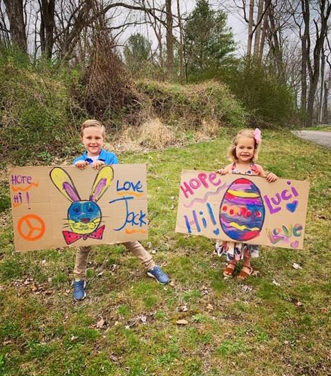 "beautiful ""hello"" to the Lewisboro Bunny"