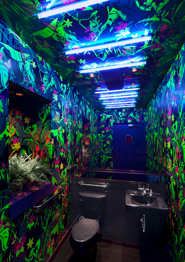 Interior restroom decor